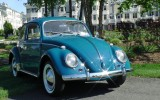 Classic 1964 VW Beetle Bug Sea Blue Sedan