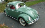 Vintage 1956 Agave Green Oval Window Beetle Bug Sedan For Sale!