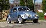 Classic VW BuGs 1955 Oval Window Beetle Iris Blue Sedan For Sale!