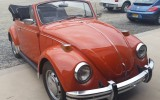 Classic VW BuGs 1970 Convertible Clementine Orange Beetle comes to Shop