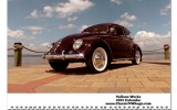 Classic VW BuGs 2015 Beetle Wall Vallone Works Calendar