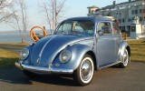 The Vintage1958 Glacier Blue VW Beetle Ragtop