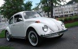 Classic 1972 VW Beetle BuG Sedan Pastel White