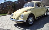 Classic 1971 VW Beetle Bug Shantung Yellow Sedan