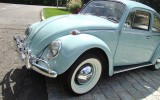 Classic VW BuGs 1965 Bahama Blue Restored Sunroof Beetle SOLD!