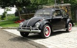 Classic VW BuGs 1966 Black Beetle Sedan SOLD!