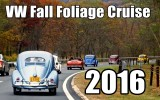 Classic VW BuGs The 2016 Fall Foliage Cruise Hudson Valley NY Air-Cooled Beetle Convoy