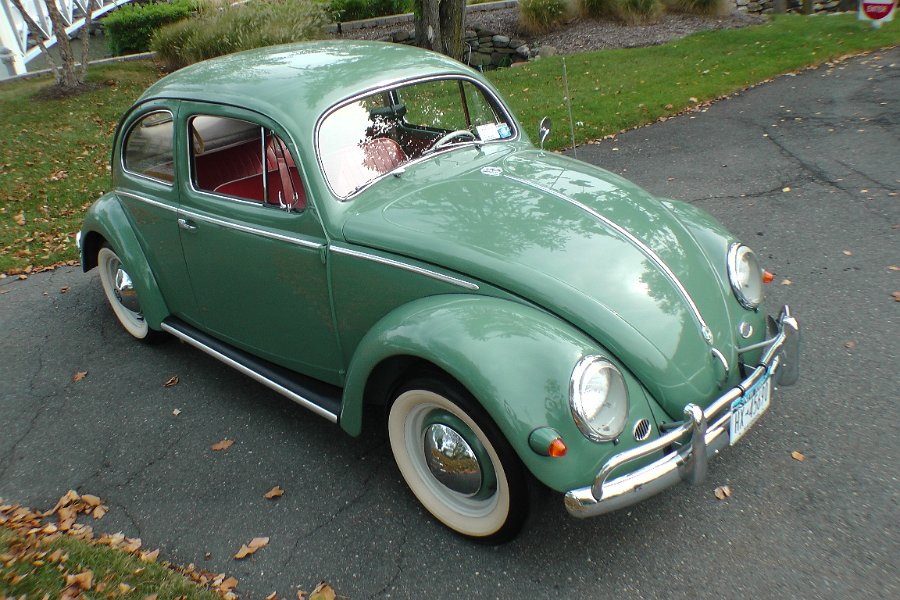 classic vintage 1956 l240 agave green oval window beetle bug sedan for sale