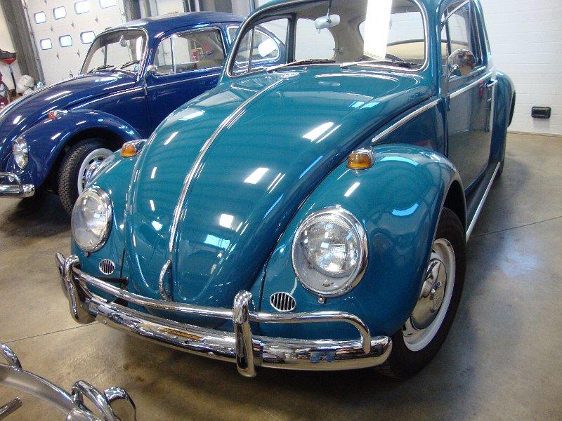 Classic 1966 Vw Beetle Bug Sea Blue Sunroof Vintage Sedan