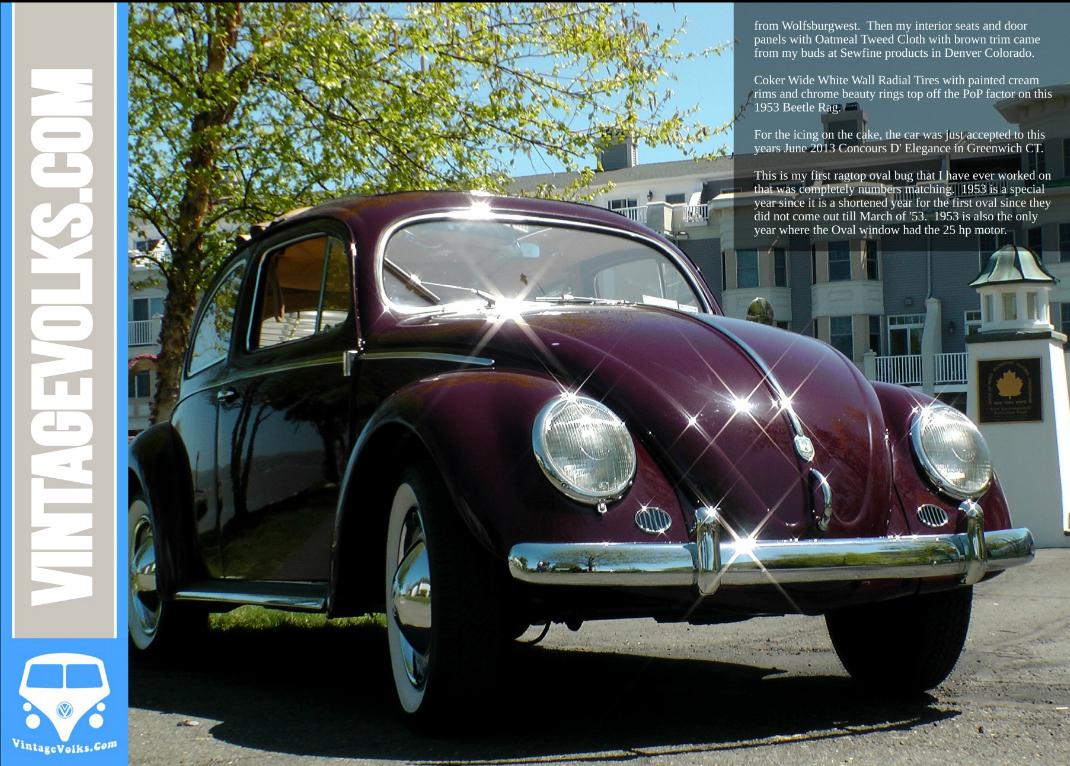 1953 Oval Window VW Ragtop Euro Beetle BuG | Classic VW Beetles ...