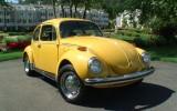 1972 Semi Auto VW BuG Yellow Super Beetle
