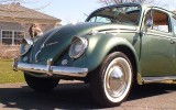 Classic VW BuGs 1958 Evergreen Metallic Beetle Ragtop SOLD