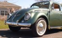 Classic VW BuGs 1958 Evergreen Metallic Beetle Ragtop For Sale