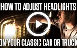 Classic VW BuGs Hagerty Vid on How to Adjust Sealed Beam Headlights
