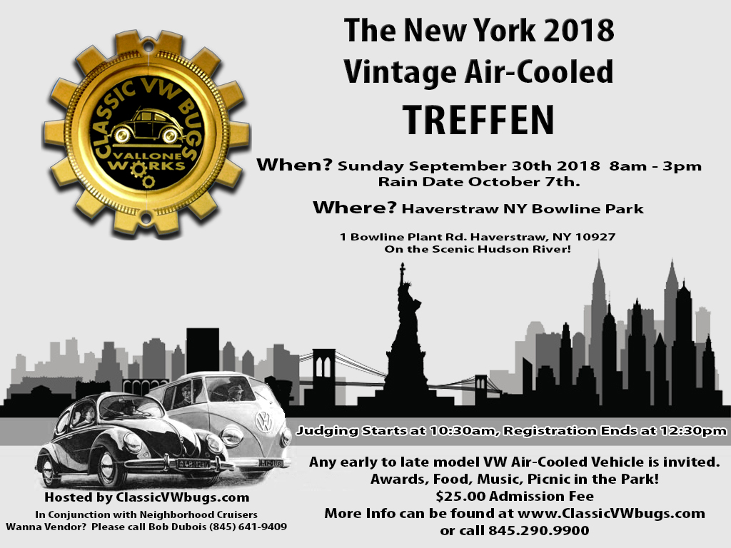 Classic VW BuGs NY Vintage VW AirCooled Treffen Is Sunday - Plant city car show 2018