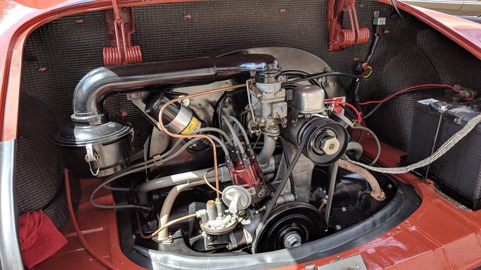 187 Vw Karmann Ghia Engine Firewall Waffle Pattern Tarboard